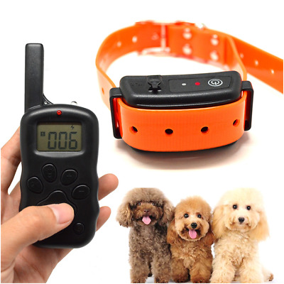 Waterproof Remote LCD 100LV Electric Shock Vibrate Dog Training Control Collar