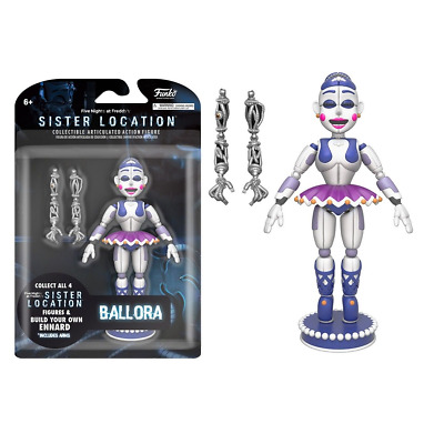 New Five Nights At Freddy's Sister Location Ballora Figure Ennard Arms Official