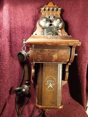 Scarce  Smaller Wood Case Antique Wall Telephone Ericsson Sweden Swedish