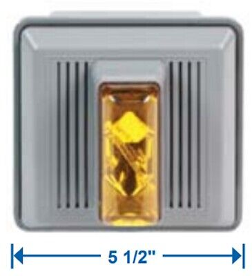Edwards Signaling 868STRA-AQ Amber Electronic Horn Strobe, Outdoor, 24V AC/DC