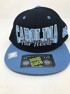 quality design 73a7a 9ed05 North Carolina Tar Heels Snapback Hat Blue Top Of The World NWT New