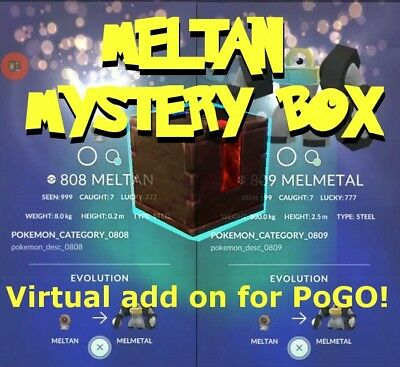 Lure box for pokemon GO! GET MELMETAL in YOUR Account!CHANCE OF SHINY MELTAN!