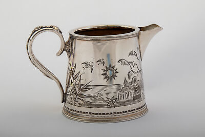 Victorian Antique Silver Plate Aesthetic Movement Jug c1880