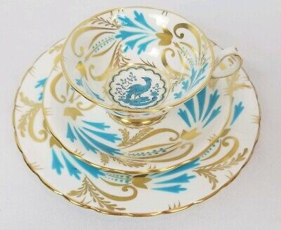 Royal Chelsea Porcelain Tea Coffee Trio