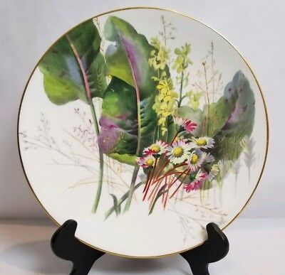 """Beautiful Antique French Pierre Mallet and Leonce Hand Painte Porcelain Plate 9"""""""