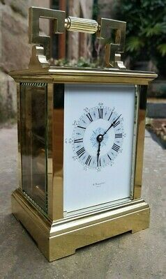 A Beautiful French Striking Carriage Clock By B Mallinson, Paris 1870 - Vg Cond