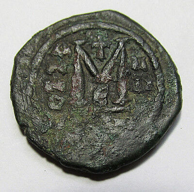 MAURICE TIBERIUS 582AD Constantinople Follis Ancient Byzantine Coin