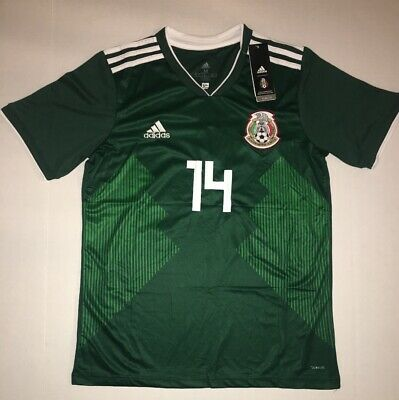 420a324e7 Mexico Jersey 2018 2019 Chicharito 14 Soccer Jersey Embroidered Patch XL