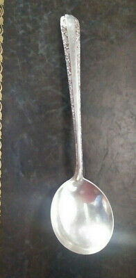 "TOWLE Sterling Silver CANDLELIGHT 6 3/8"" Round Bowl Soup Spoon M Monogram (BG-9)"