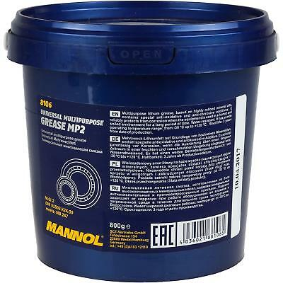 800G Original Mannol Grasa Multiuso Mp-2 Multipurpose Lubricante K2k-30