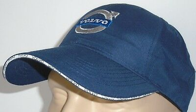 4badfe84ad08 Volvo Classic Baseball Cap Blue Hat Logo Embroidered In Front Adjustable