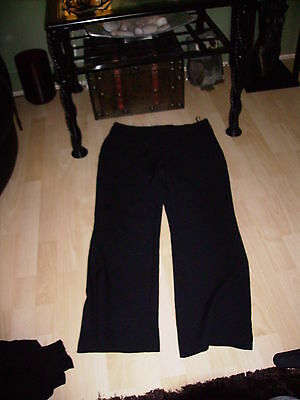 womens black size 12 DOROTHY PERKINS trousers vgc!