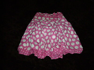 NEXT gorgeous pretty 2 layer puffy girls skirt pink white spots size age 9 years