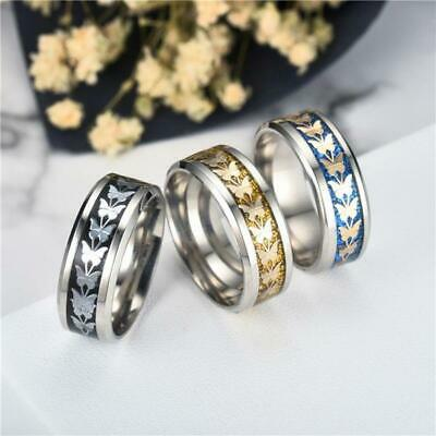 OTOKY Vintage Stainless Steel Butterfly Theme Ring - Ladies / Women's
