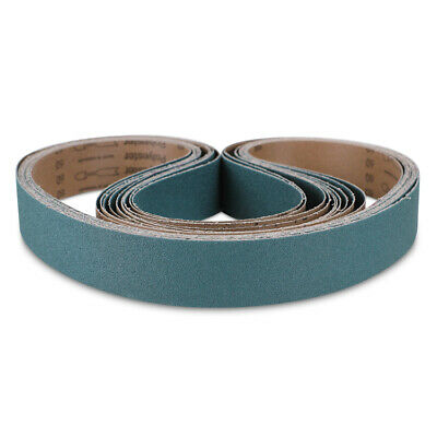 "2/"" x 42/"" Zirconia Metal Sanding Belts 2 each 36 40 60 80 /& 120 Grit 10 PACK"
