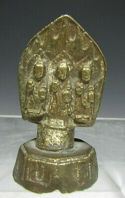 China Chinese Miniature Gilt-Bronze Buddhist Triad Northern Wei Dynasty Style