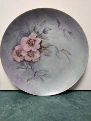 Vintage Asian Themed Decorative Plate 1980's 7.5 in diameter