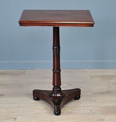 Antique Victorian Mahogany Small Occasional Side Hall Window Table, Tripod Base