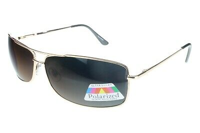 3044825683 Bigalux Sunglasses Extra Wide 160mm Frame XXL Large Heads Gold Brown  Polarized