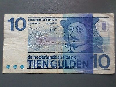 10 Gulden - Amsterdam 25 april 1968 - Niederlande