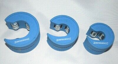 SILVERLINE  COPPER PIPE CUTTER / SLICE pack of 3,  15mm 22mm & 28mm