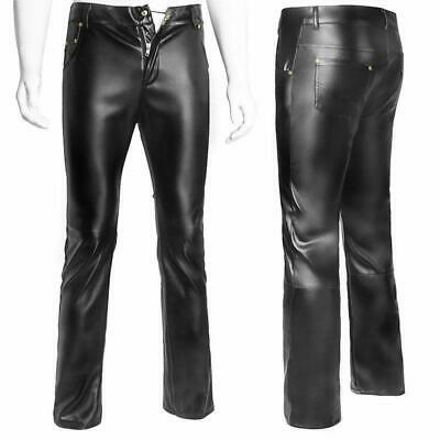 Men's Faux leather trousers Herren Hose GAY Latex Pants Glanz Gothic Spandex SH7