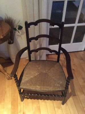 Wonderful Carver Rush Seated Chair