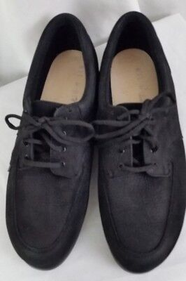 b0b7fdb478 Drew orthotic lincoln black tumbled leather loafers mens shoes SZ 11.5M