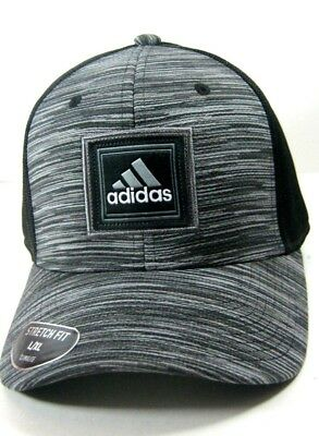 b8c8b7f132db7 ADIDAS C M VETERANS STRETCH FIT Hat Cap Adult Men s S M BLACK ONYX SPACE DYE