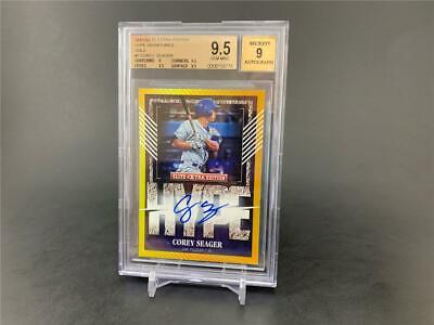 2015 Elite Extra Edition Corey Seager #2 Hype Auto Gold Parallel 1/5 Bgs 9.5 9