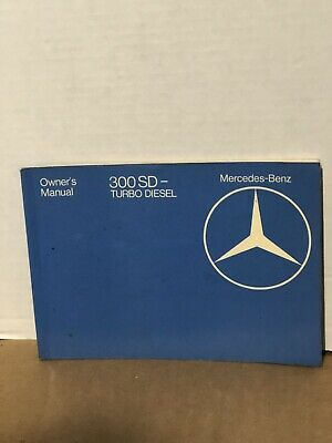 1983 Mercedes Benz 300sd Turbo Diesel Owners Manual