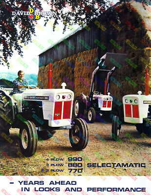 DAVID BROWN 990 880 770 Tractor Advertising Poster (A3) V2 - (3 for 2 offer)