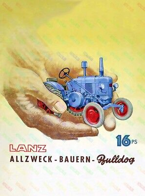 LANZ Bulldog Tractor Advertising/Brochure Poster A3 - (3 for 2 offer) NEW