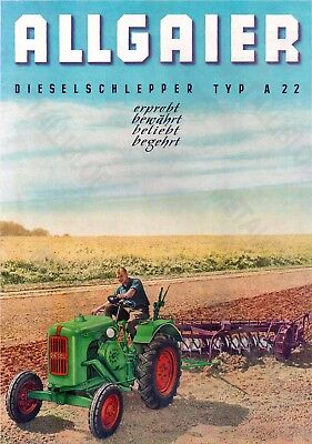 ALLGAIER Type A22 Tractor Advertising - Poster (A3) - ( 3 for 2 offer)