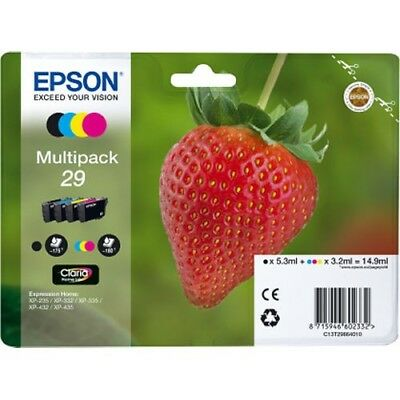 Genuine EPSON 29 T2986 Strawberry Multi pack Combo Pack Ink Cartridge For XP445