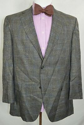 Jack Victor Charcoal Gray Twill 2 Btn Sport Coat Sz 44 R Fully Lined Wool Blend