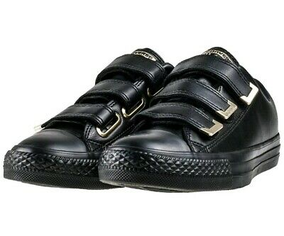 best service 34124 f90f1 Womens Size 7 Converse Chuck Taylor All Star 3v Ox Black Gold Fashion  Sneakers