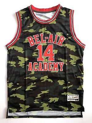 Will Smith Fresh Prince 'Bel-Air Academy' Camo Throwback Jersey - Mens L, NWT