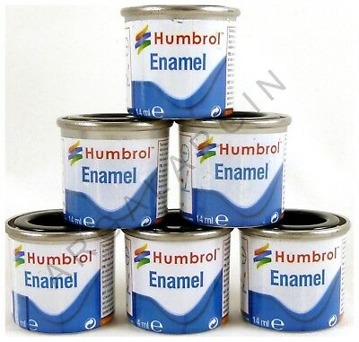 Humbrol 14ml Enamel Model Paint Satin / Metalcote / Clear Making, Airfix, Hornby
