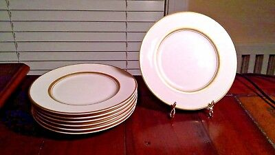 Set of 7 Old Ivory Syracuse China OPCo Kent Gold Banded Bread & Butter Plates