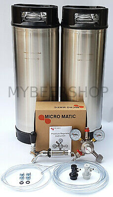 XPERT BALL LOCK KEGGING KIT with MICROMATIC REGULATOR HOME BREW BEER KEG SYSTEM