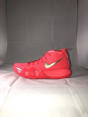 4cb2a3249acd Men s Nike Kyrie 4 Red Carpet Red Orbit Metallic Gold 943806 602 Size 9.5