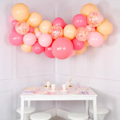 Stunning 3.5M Peach & Pinks Balloon Garland Cloud Kit-Party Decorations Large