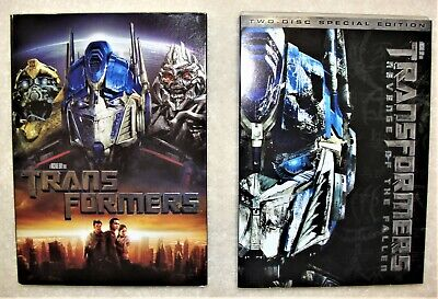 2 DVD's Transformers & Transformers Revenge of the Fallen 2 Disc Special Edition