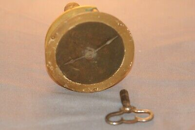 Antique 1916 Peerless Portable Watch Clock Chas Lanz Inc & Seth Thomas W/Key