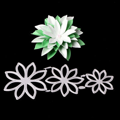 metal cutting dies mold 3Pcs Flower decoration Scrapbook mould stencils cut die