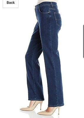 90399e26 NWT LEE Womens Sz 8M Dark wash Straight Leg Relaxed Fit Comfort Stretch  Jeans