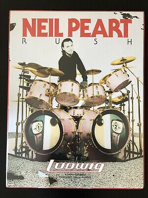 Rush Neil Peart Ludwig Poster! (Dry Mounted)