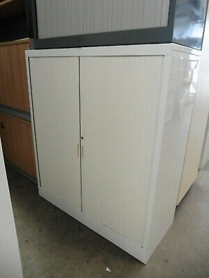 Office 1360Mm White Stationary Cupboard Brisbane