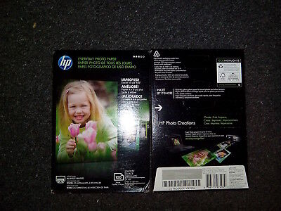 HP Everyday Photo Paper 4 x 6 4x6 Gloss 100 Sheets CR759A Brand New